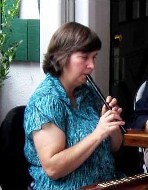 Gwen Aumann w penny whistle