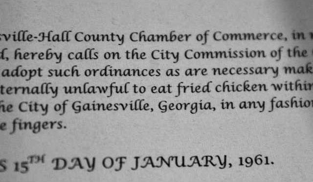 Visitor Arrested For Eating Chicken With Fork Gainesville Times