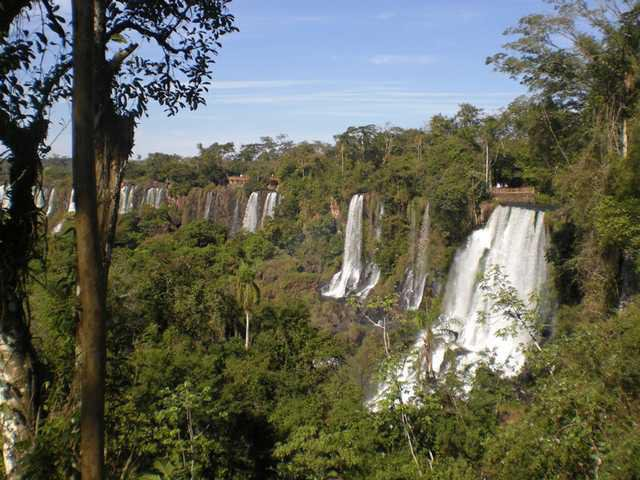 Iguazu Falls Comprises About 275 Waterfalls Many More Than 200 Feet High They Line Two Miles Of The River Which Runs Between Brazil And