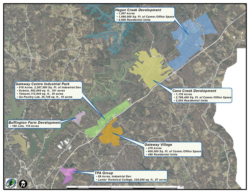 Brenau University Campus Map.Completed Ga 365 Sewer Lines Make Way For More Growth Gainesville