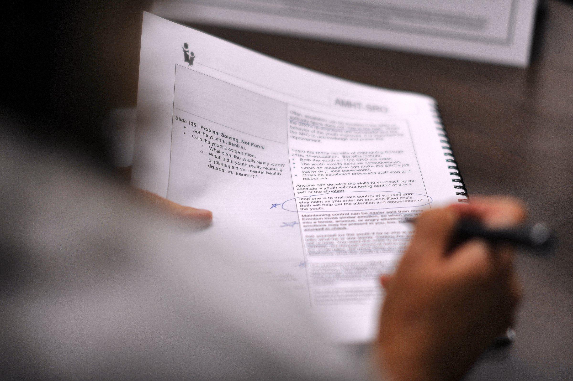 Hall schools train on responses to mental illness, behavioral