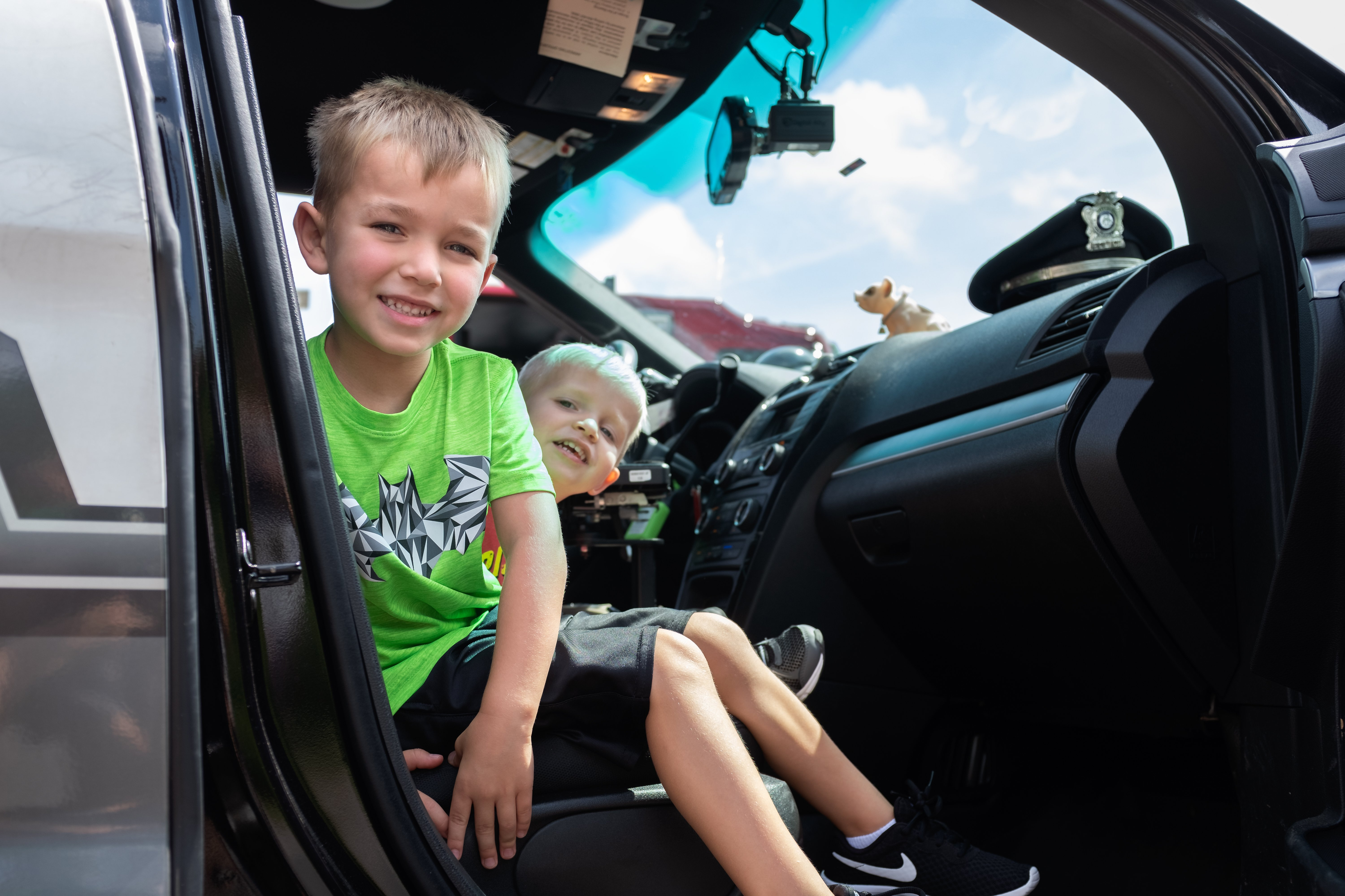Touch a Truck: Prospective policemen
