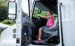 Touch a Truck: Big rig driver