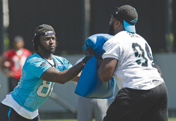 Sterling Bailey with Panthers